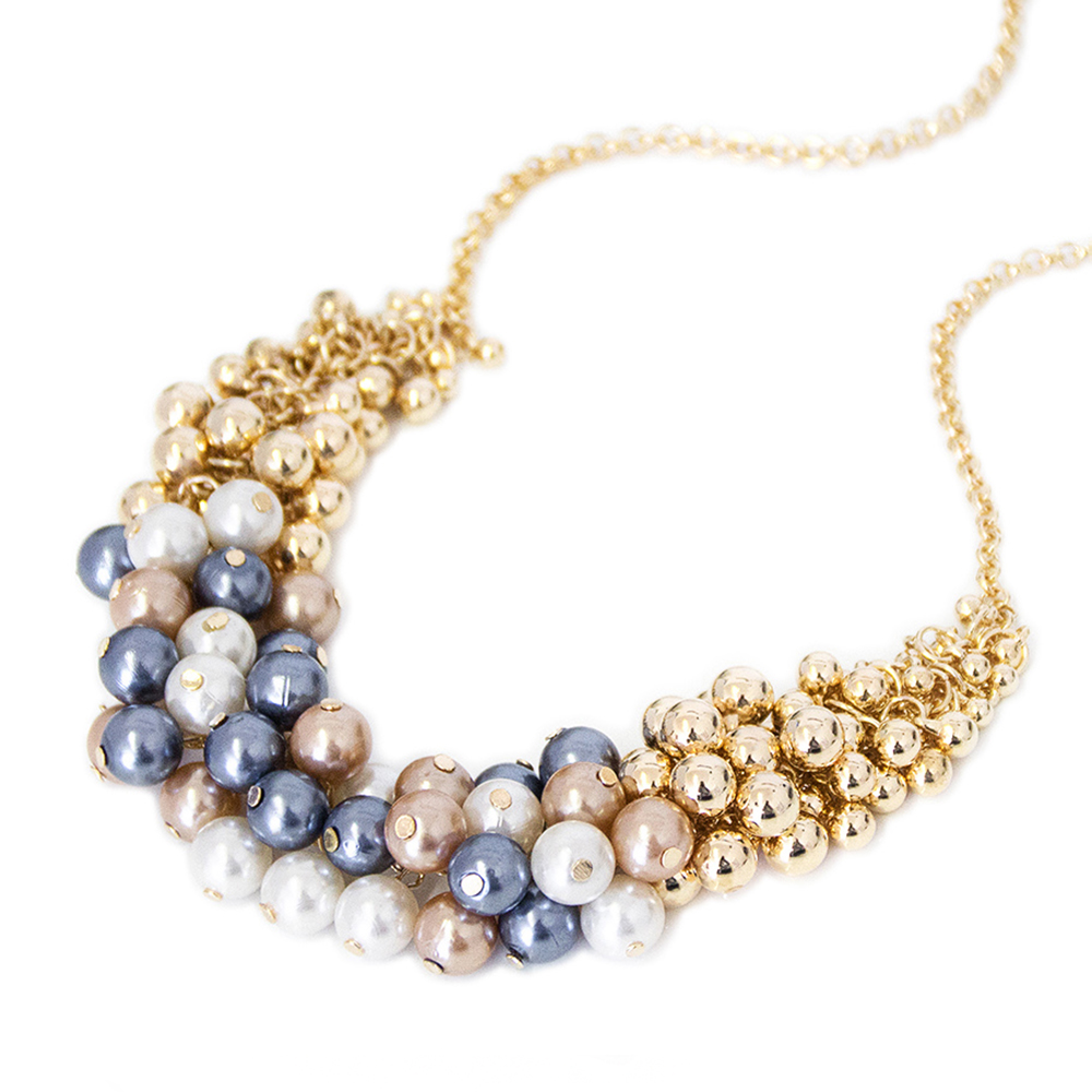Modeschmuck perlen  MyBeautyworld24 - Modische Statement Halskette Modeschmuck Kette ...