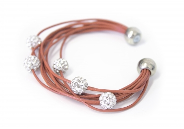 Armband Shamballa in copper