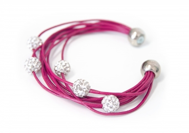 Armband Shamballa in juicy
