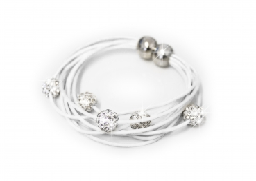Armband Shamballa in white