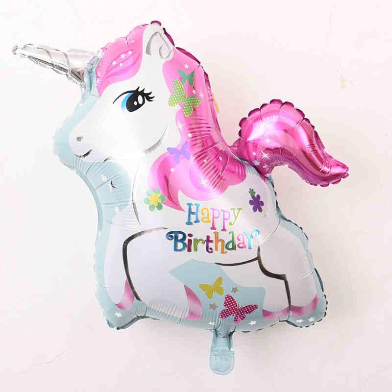 Mybeautyworld24 Folienballon Einhorn Ballon Happy Birthday