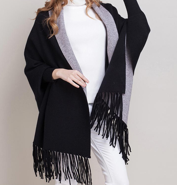 competitive price 8e681 77690 MyBeautyworld24 - Sweater Wollponcho Ponchos Capes Schal ...